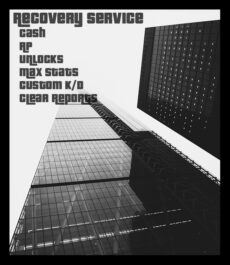 GTA 5 Recovery Service (Cash and Levels)